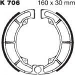 Тормозные колодки в барабанный тормоз EBC (2 шт.) K706, Kawasaki, производитель EBC (Англия)