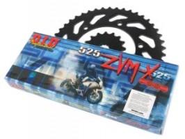 Комплект цепи и звезд для Kawasaki ZX600 88-98 (GPX600R)ZVMX